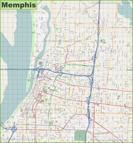 Large detailed map of Memphis