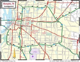 Memphis area road map