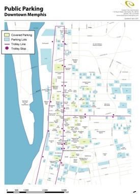 Memphis parking map