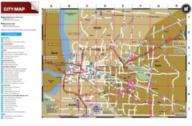 Memphis tourist attractions map
