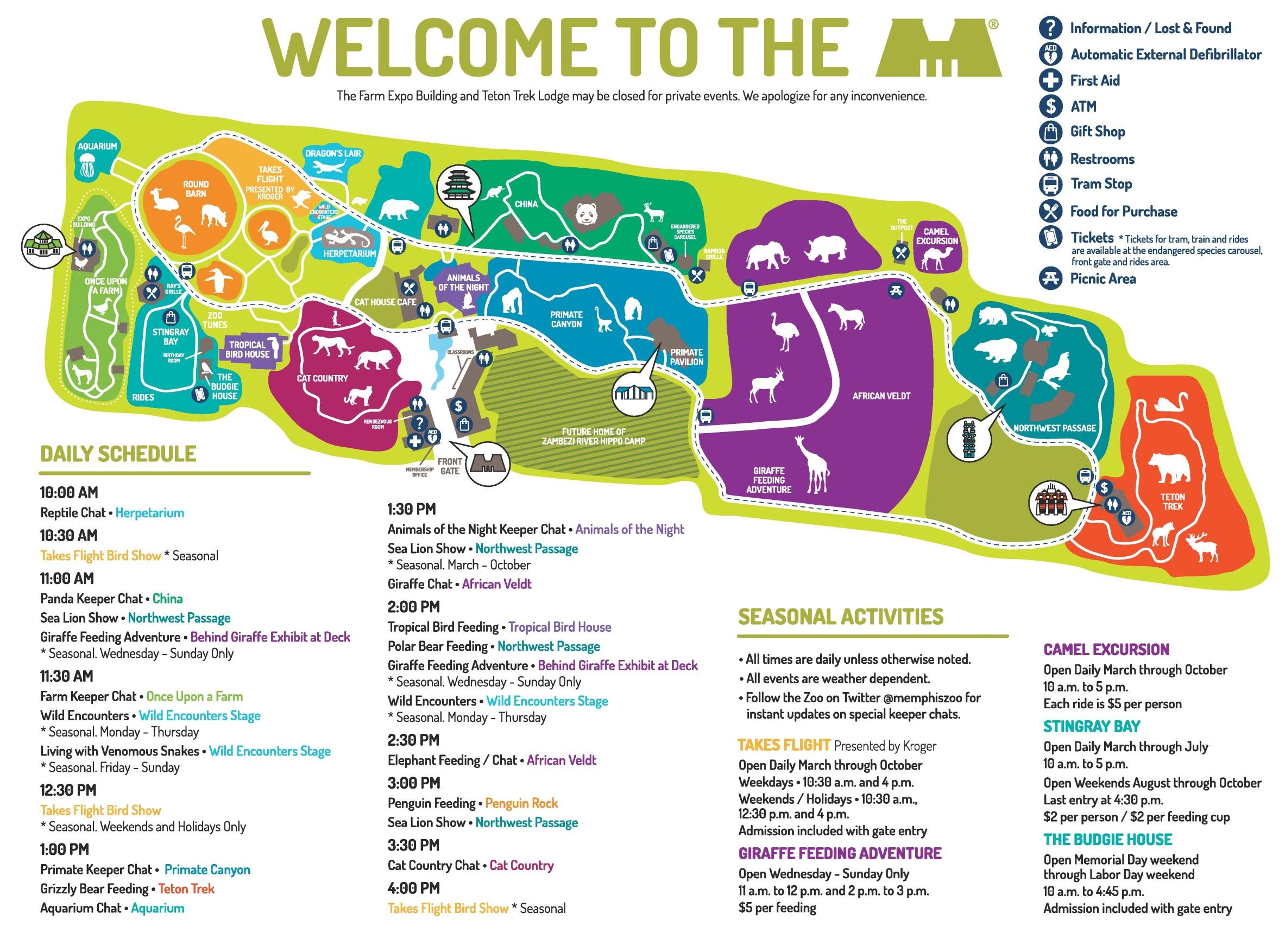 Memphis Zoo Map Memphis Zoo map