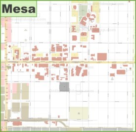 Mesa downtown map