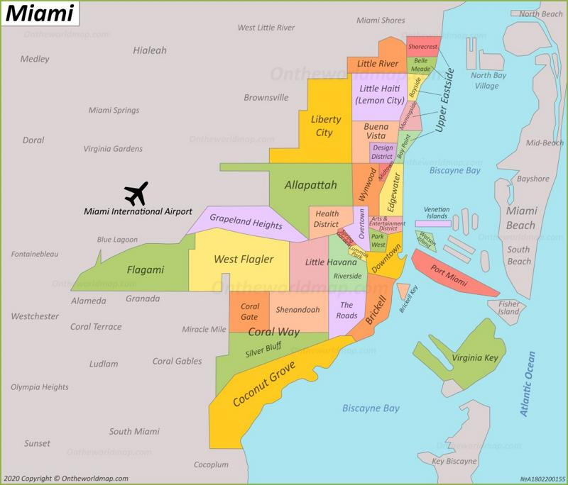 Maps Of Miami And Beach