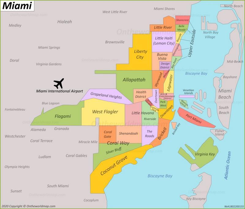 miami florida on map Miami Maps Florida U S Maps Of Miami And Miami Beach miami florida on map