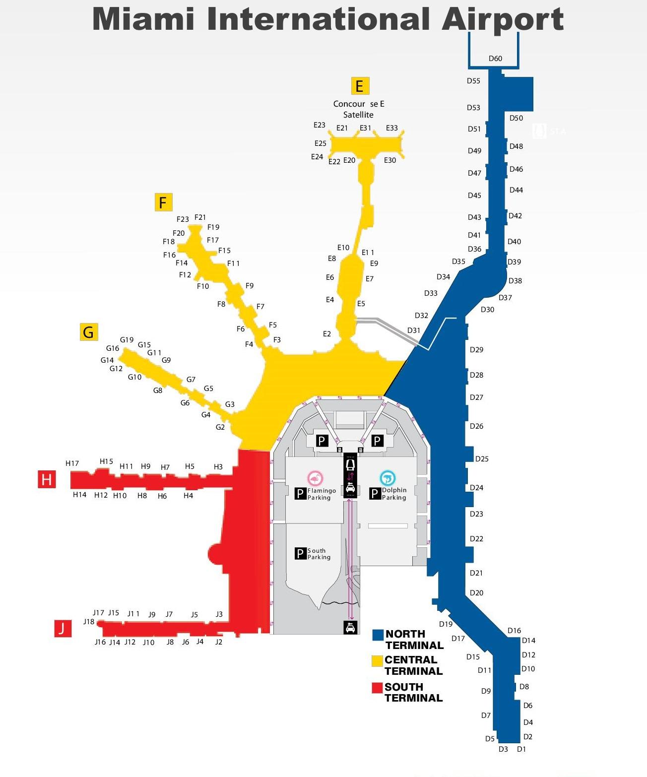 miami airport map