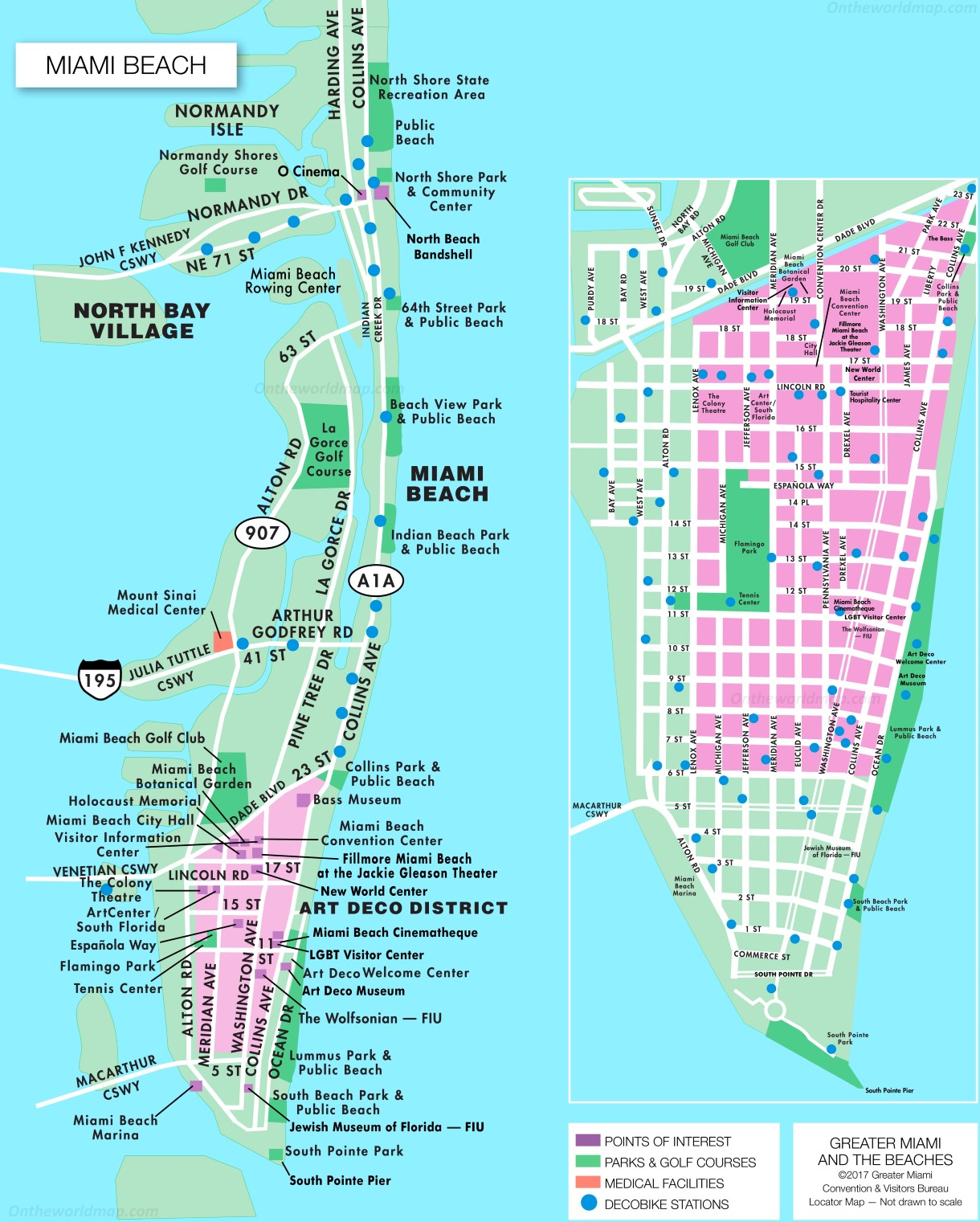 Miami Beach Tourist Attractions Map