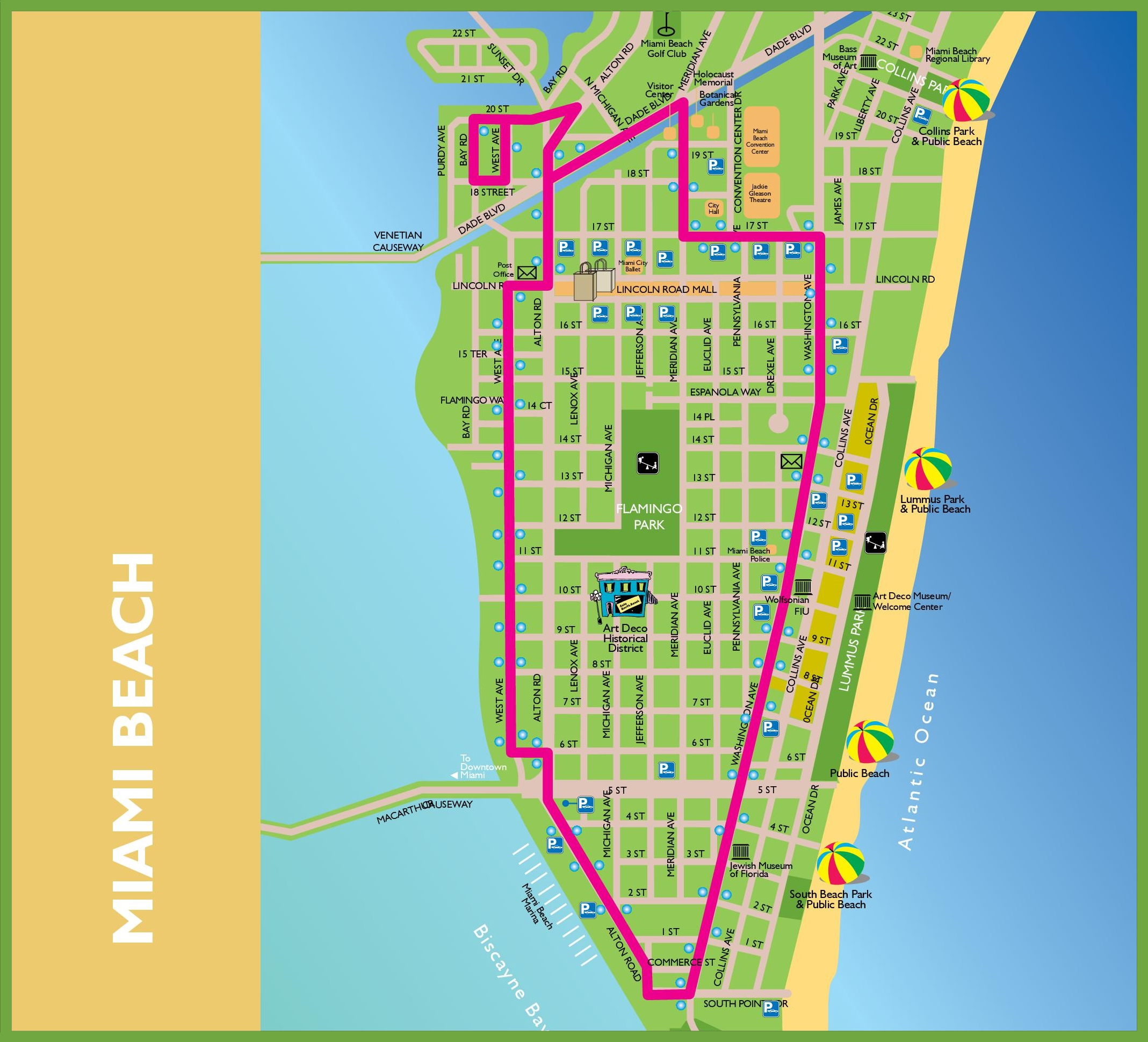 Miami Beach tourist map – Miami Beach Tourist Map
