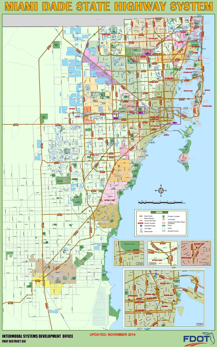 Miami Dade highway map