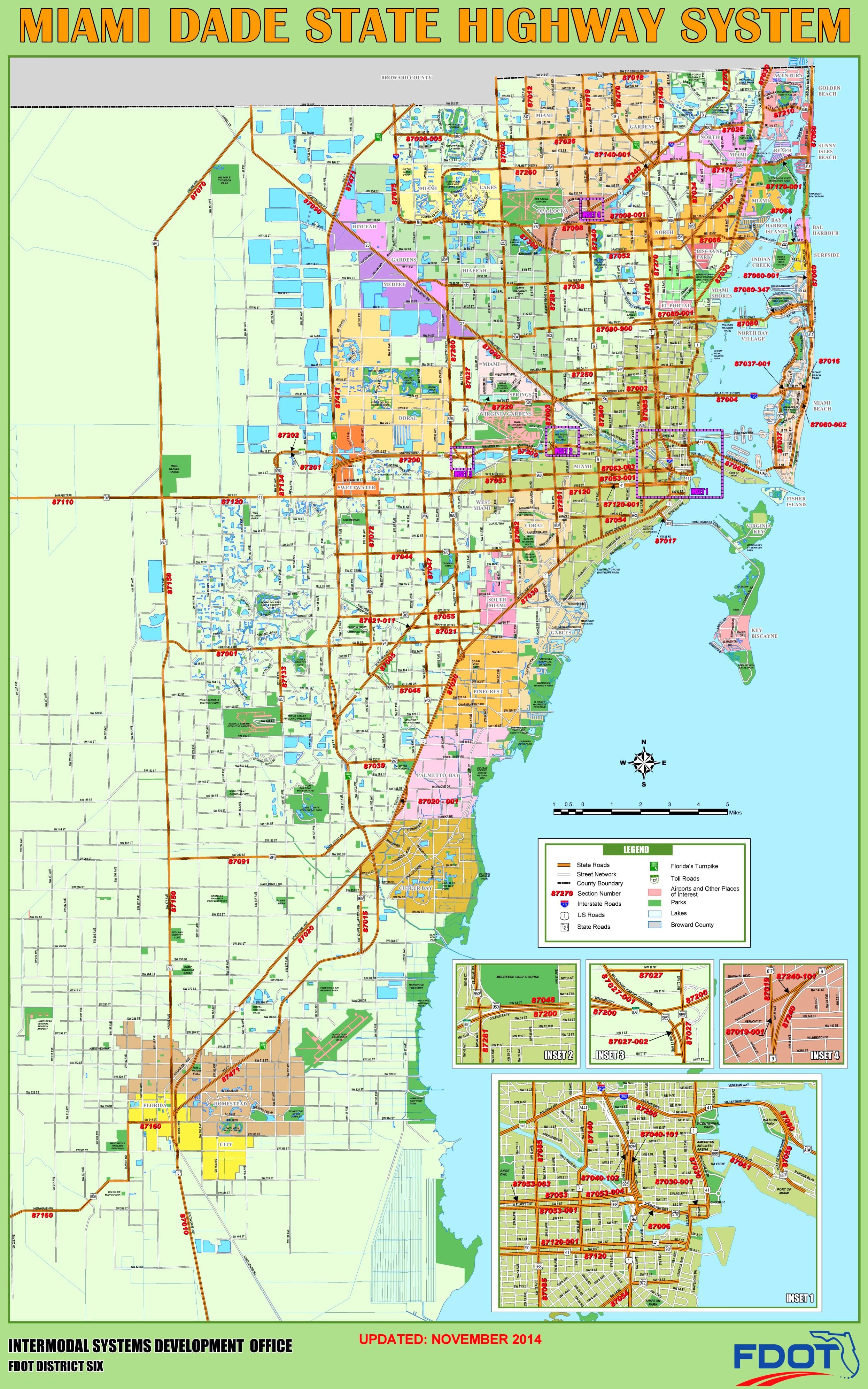 Miami Dade Map Miami Dade highway map