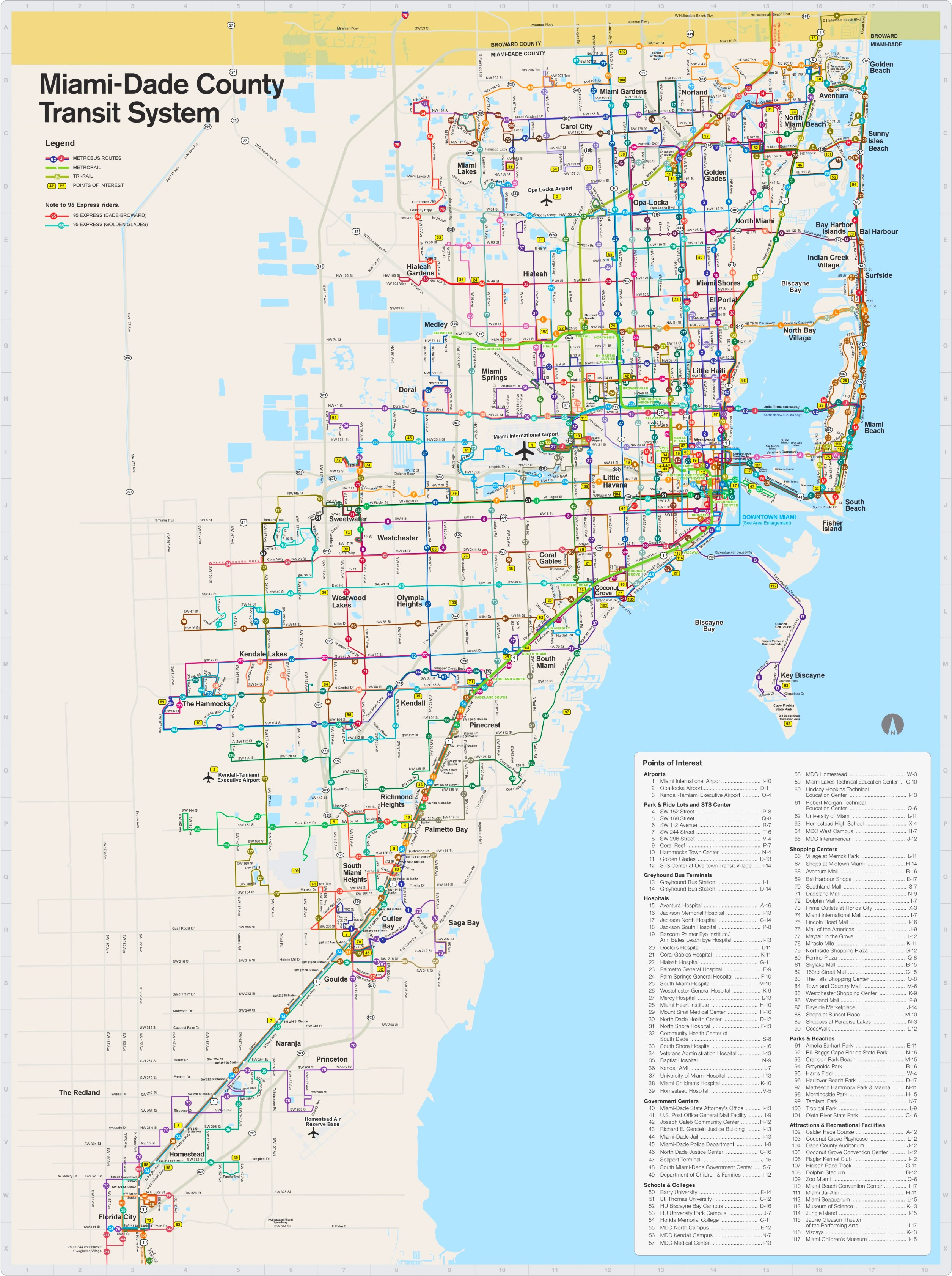 miami dade transport map