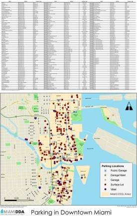 Miami downtown parking map