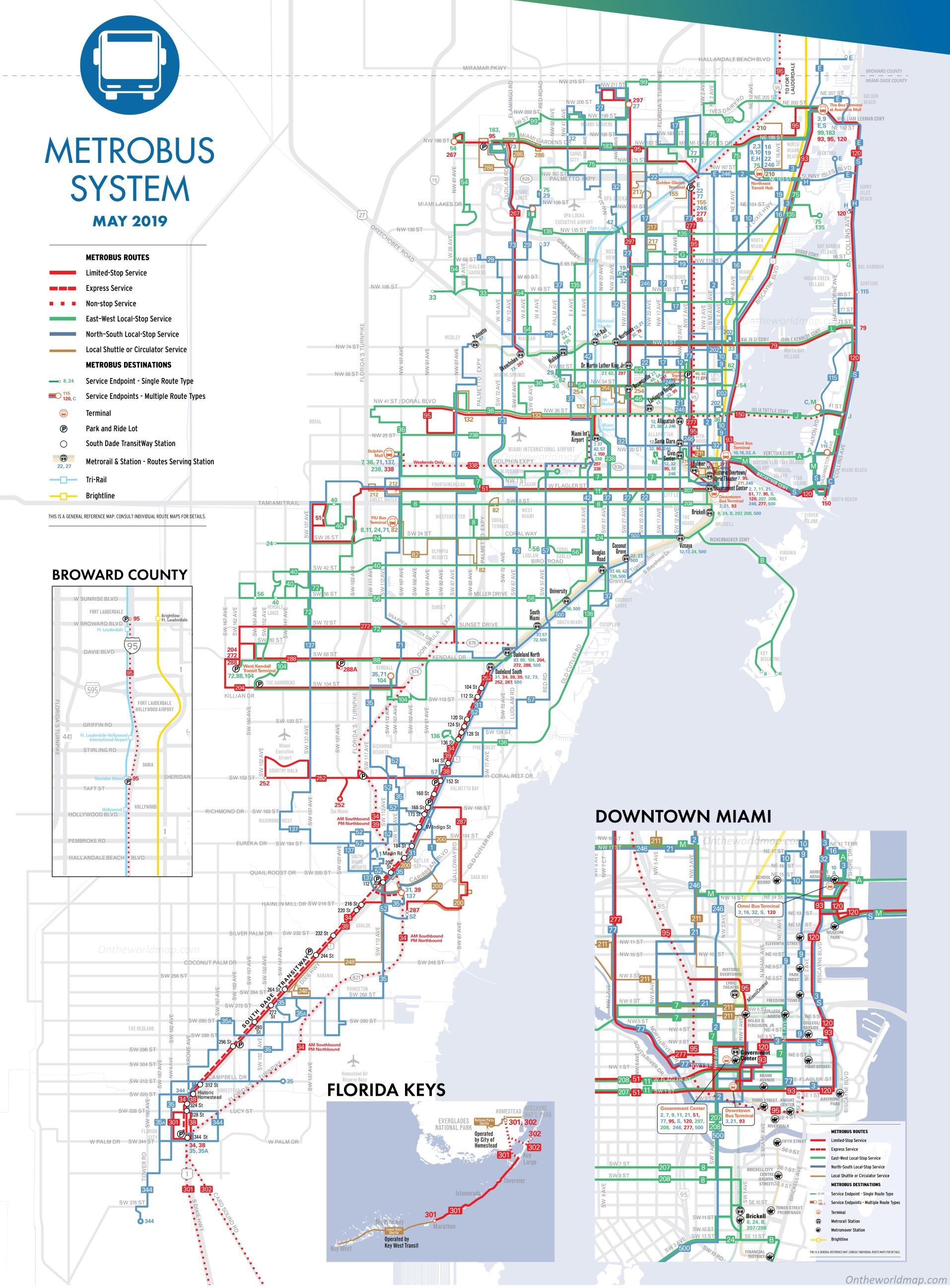 miami metrobus map