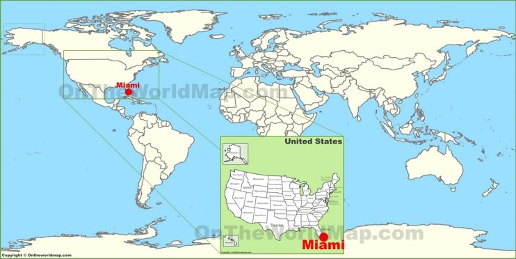 Miami on the World Map