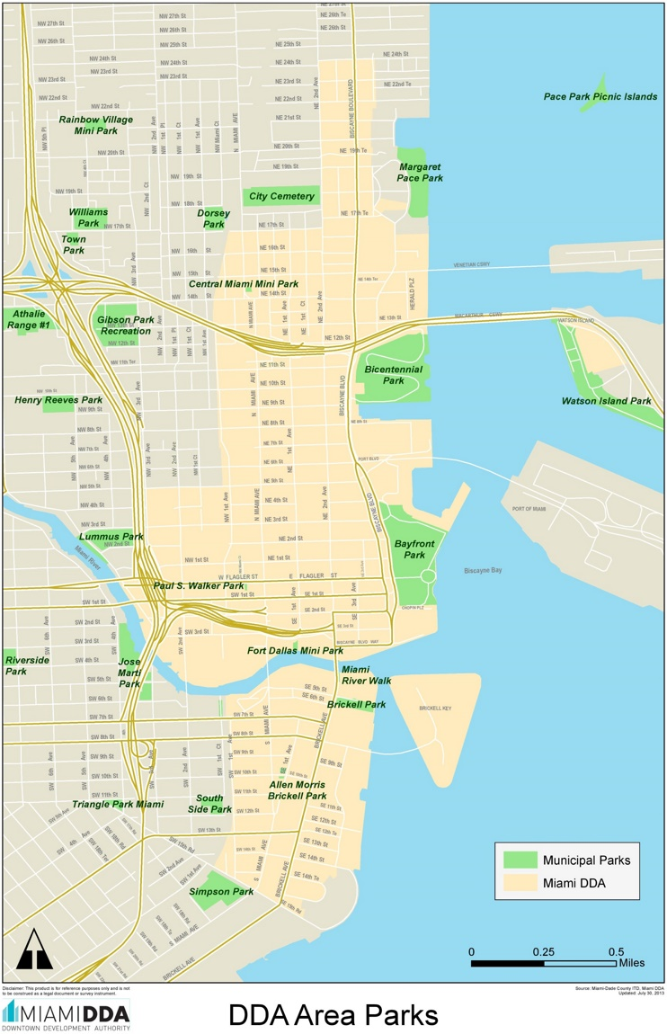 Miami parks map