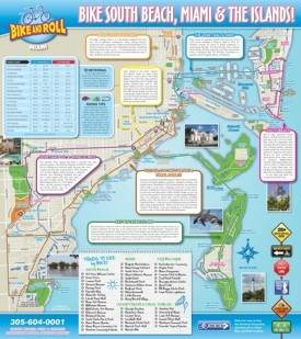 Miami and South Beach bike map