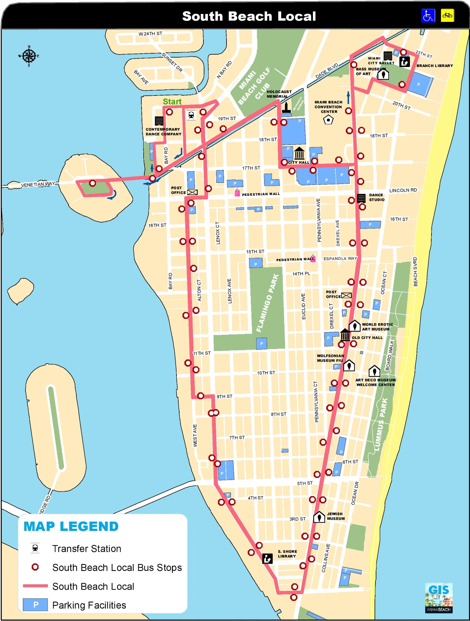 . miami south beach map