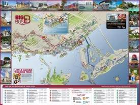 Miami tourist attractions map