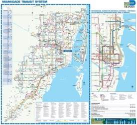 Miami transport map
