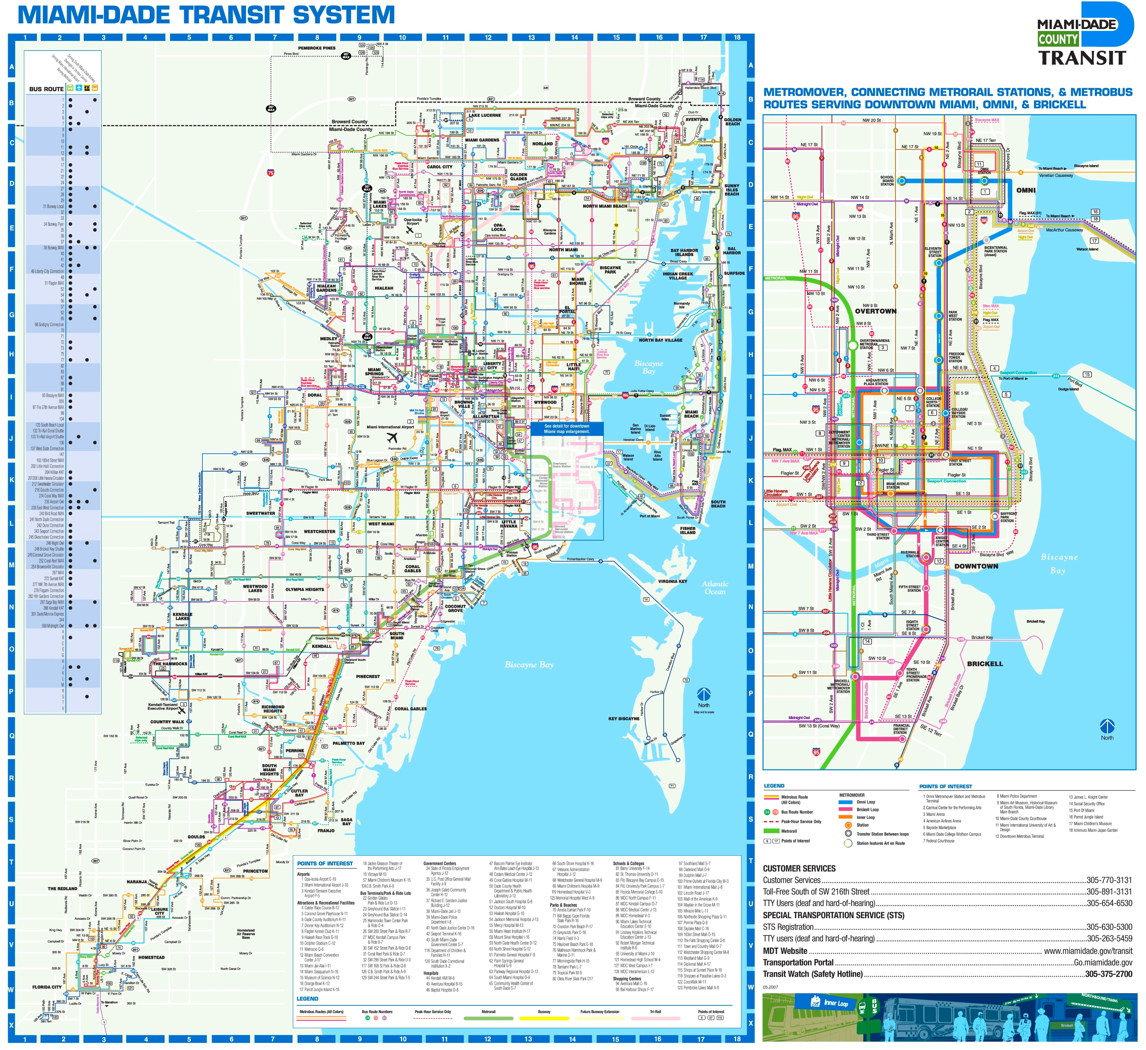 Miami Beach Bus Map