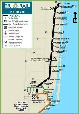 Miami Tri-Rail map