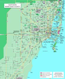 Northern Miami Dade Map
