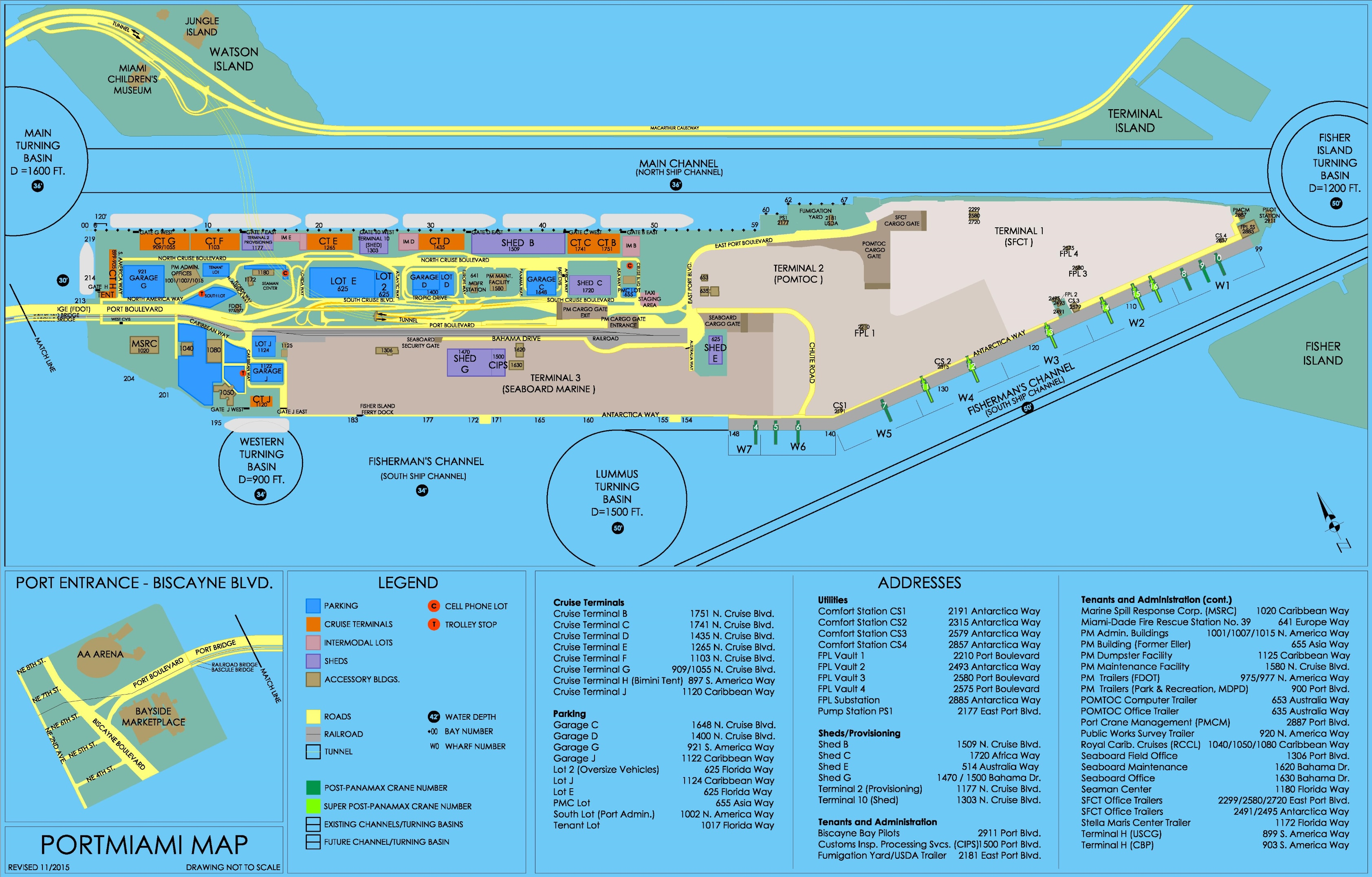 port of miami map -