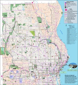 Milwaukee bike map