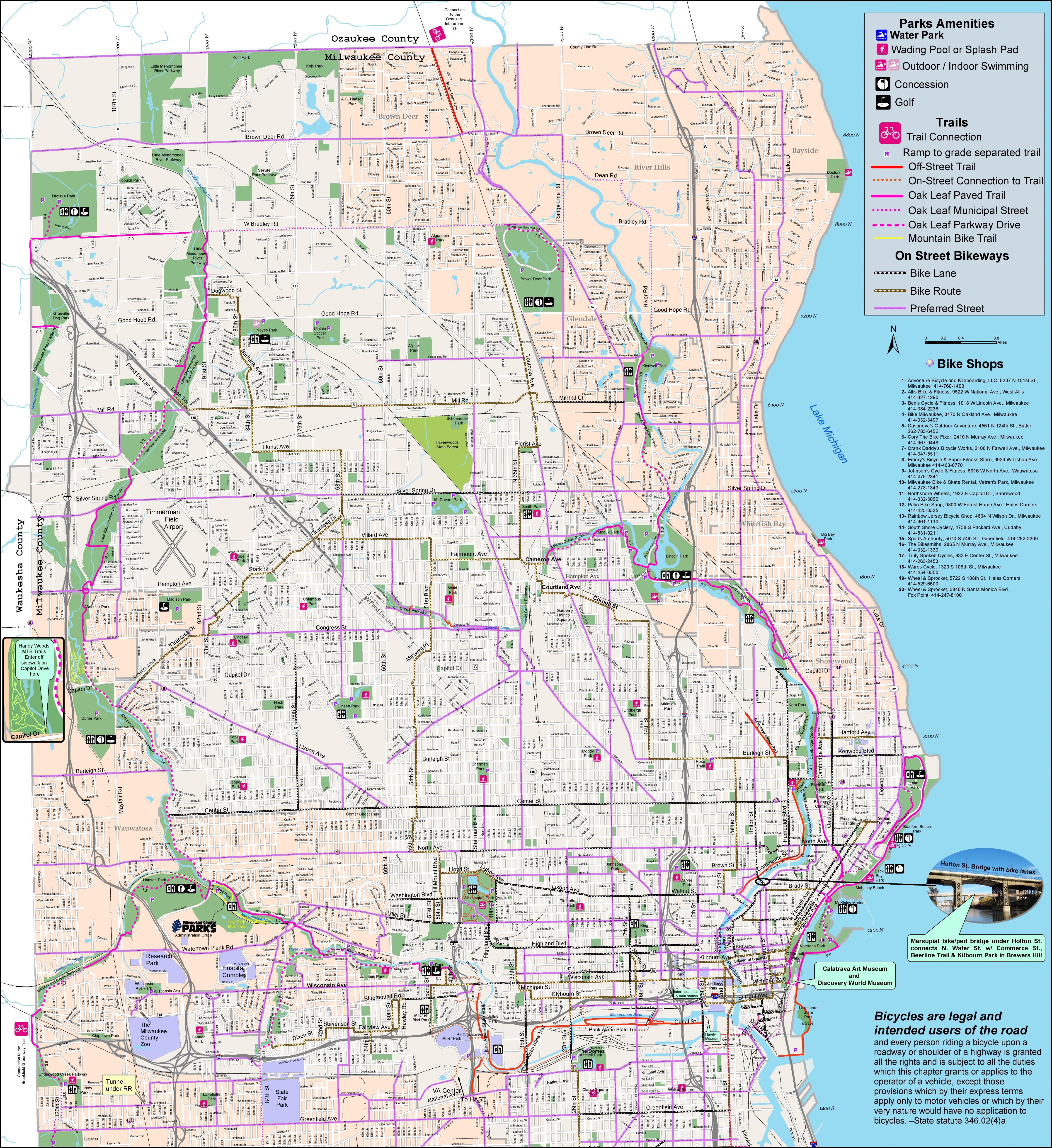 Milwaukee Bike Map