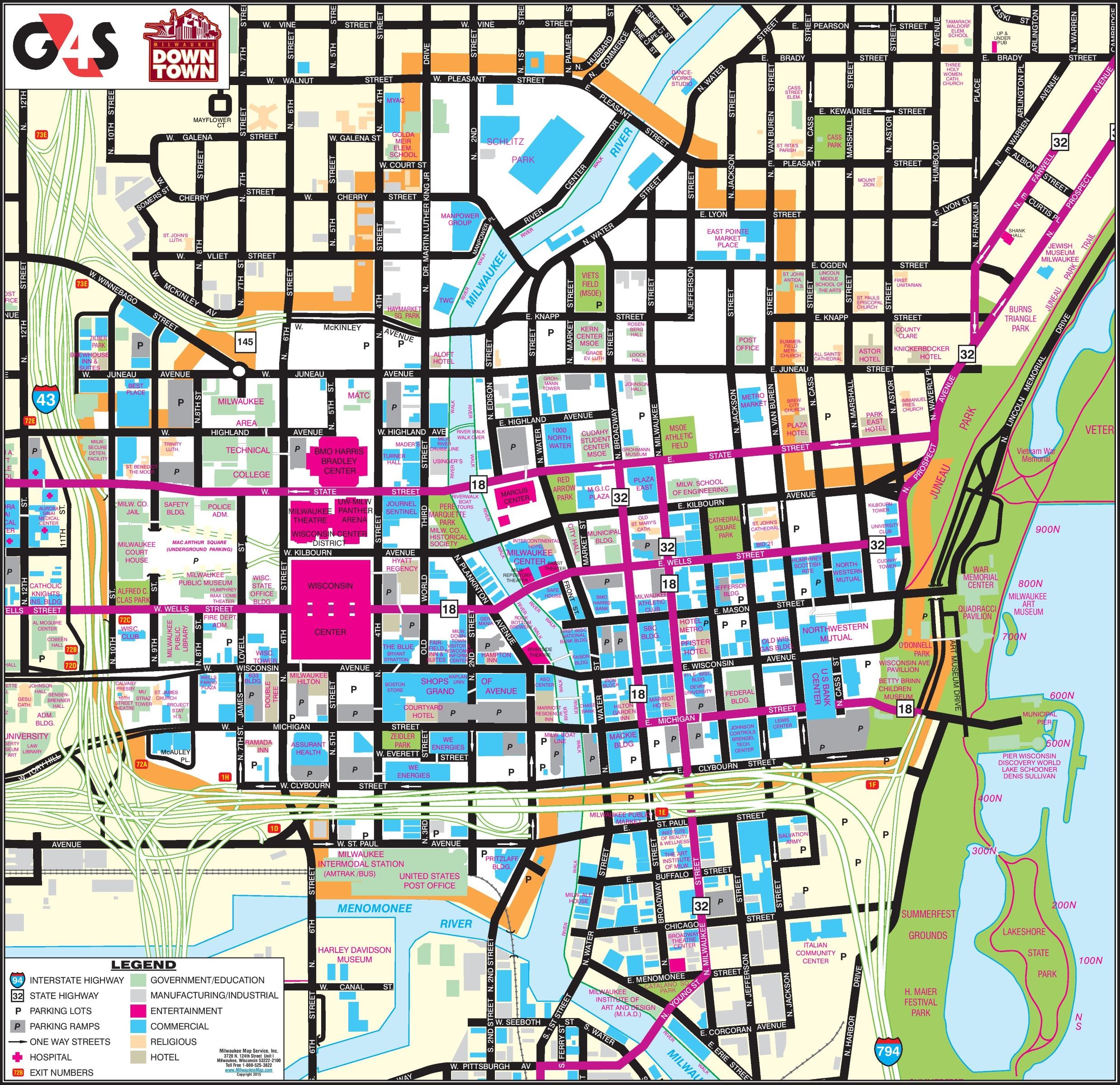 Map Of Downtown Milwaukee Milwaukee downtown map
