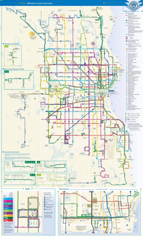 Milwaukee transport map