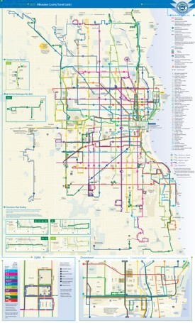 Milwaukee transport map