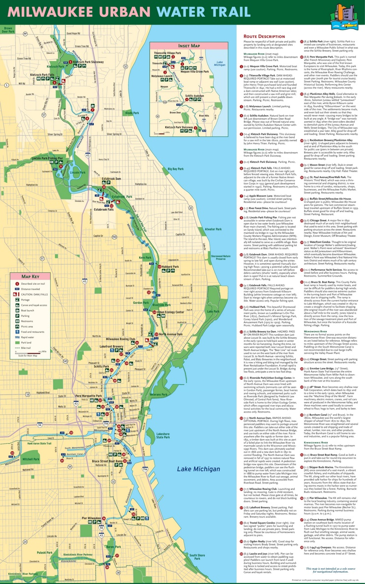 Milwaukee Water Trail map