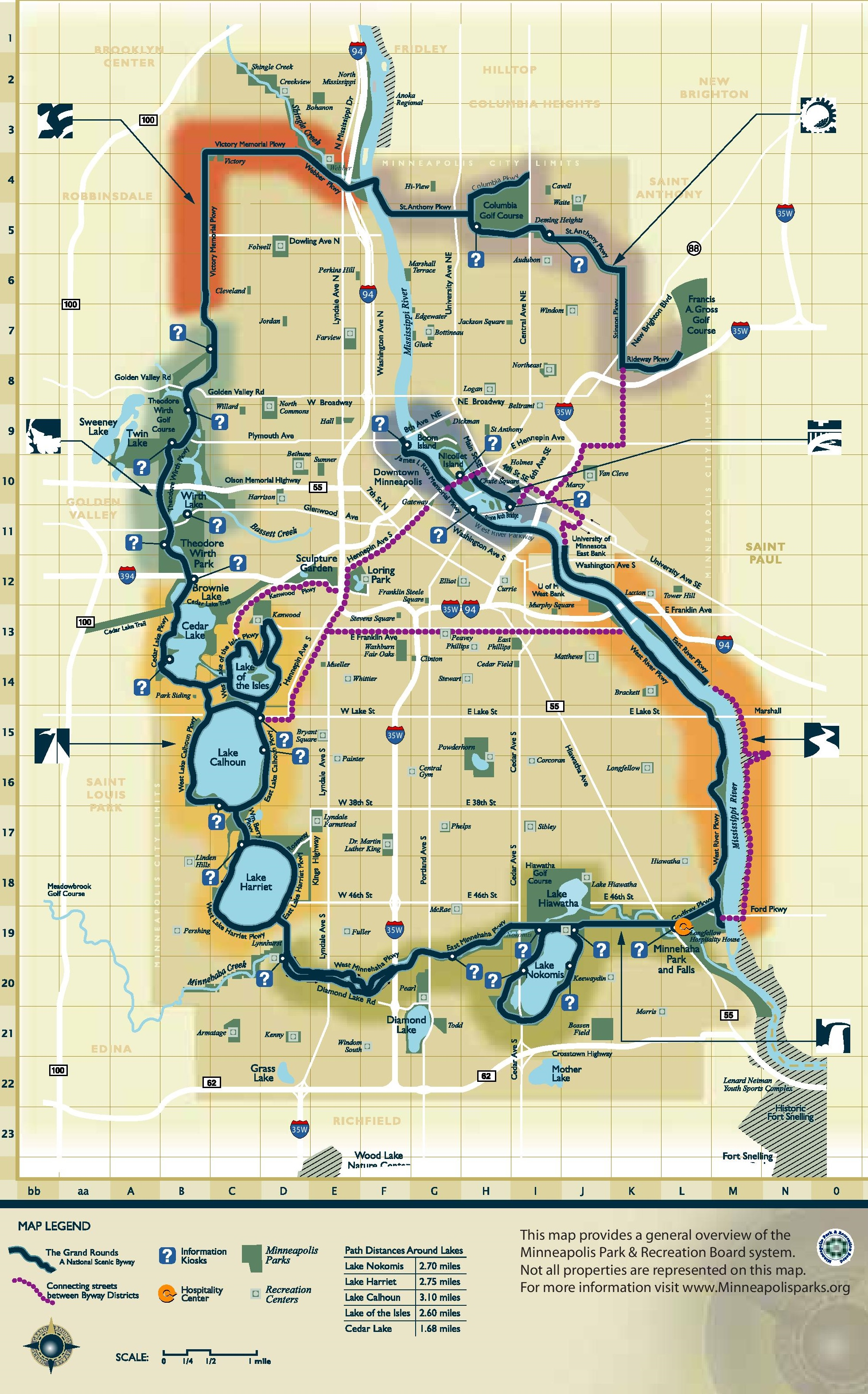 This is a graphic of Minneapolis Skyway Map Printable pertaining to chicago skyway