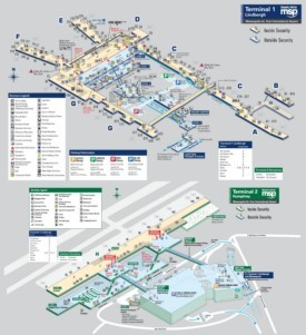 Minneapolis–Saint Paul International Airport map