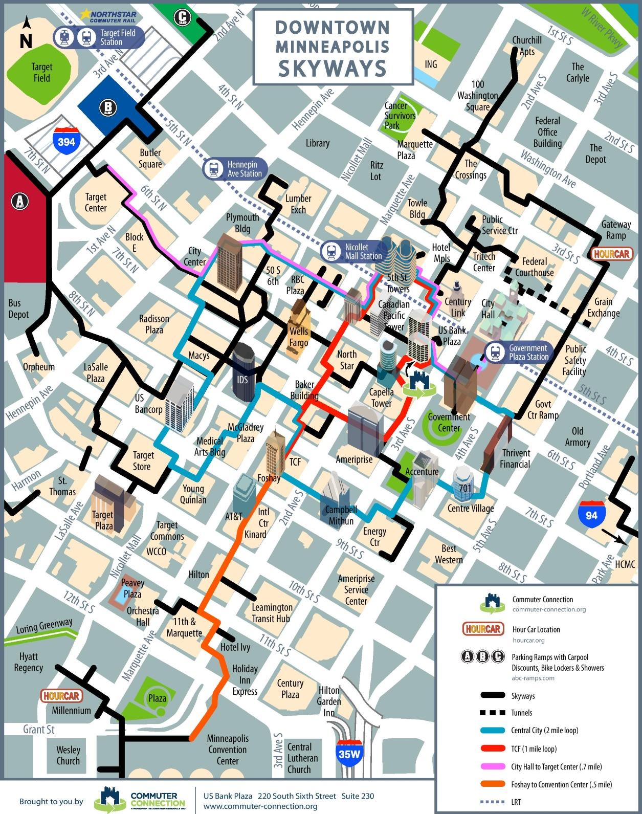 Mpls Skyway Map Minneapolis skyway map Mpls Skyway Map