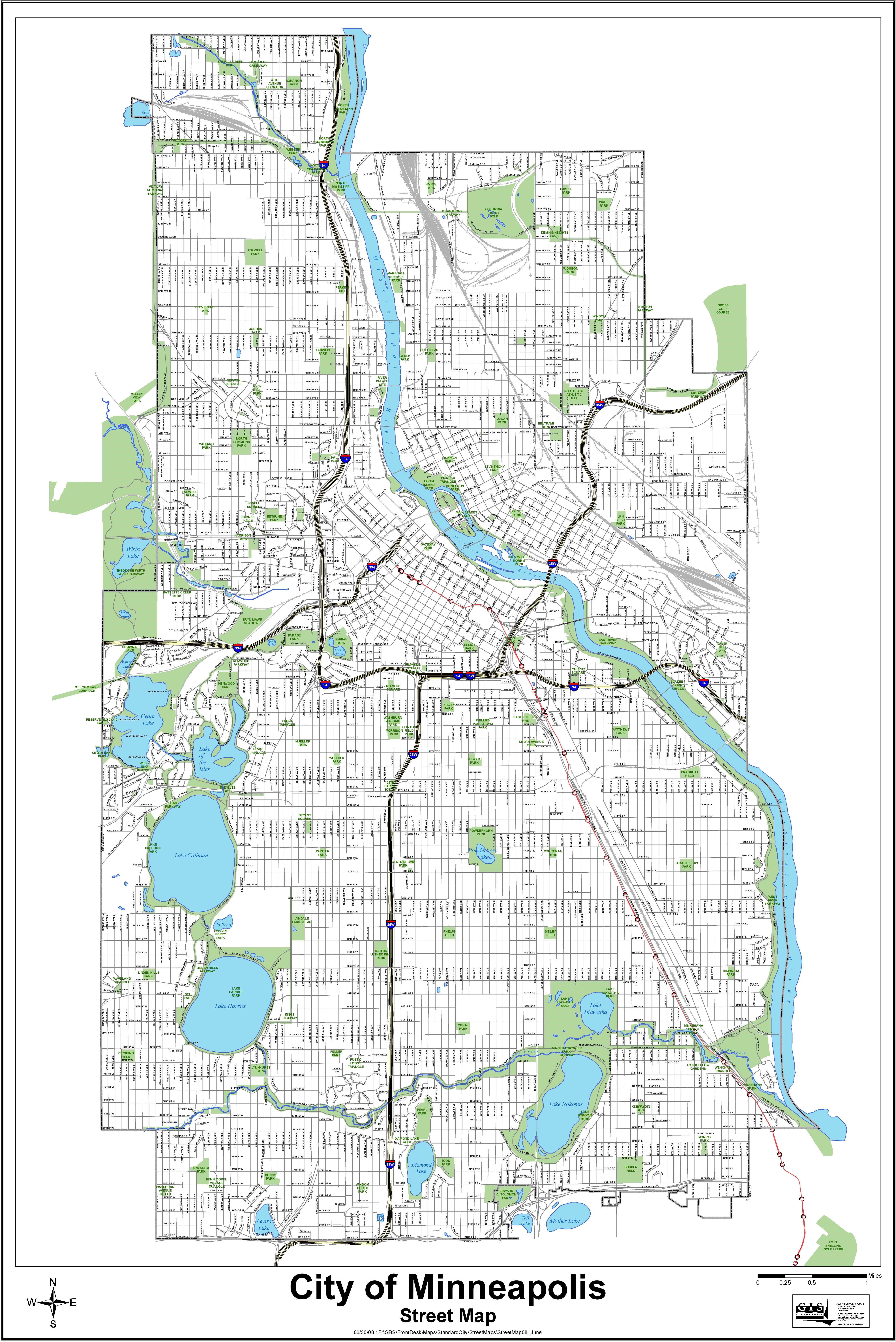 Map Of Minneapolis Minneapolis street map Map Of Minneapolis