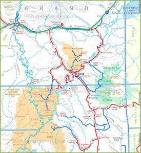 Moab area road map