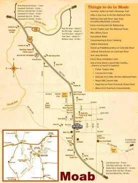 Moab tourist attractions map