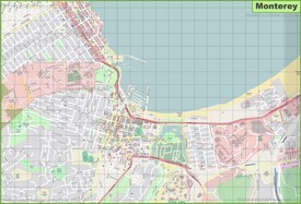 Large detailed map of Monterey