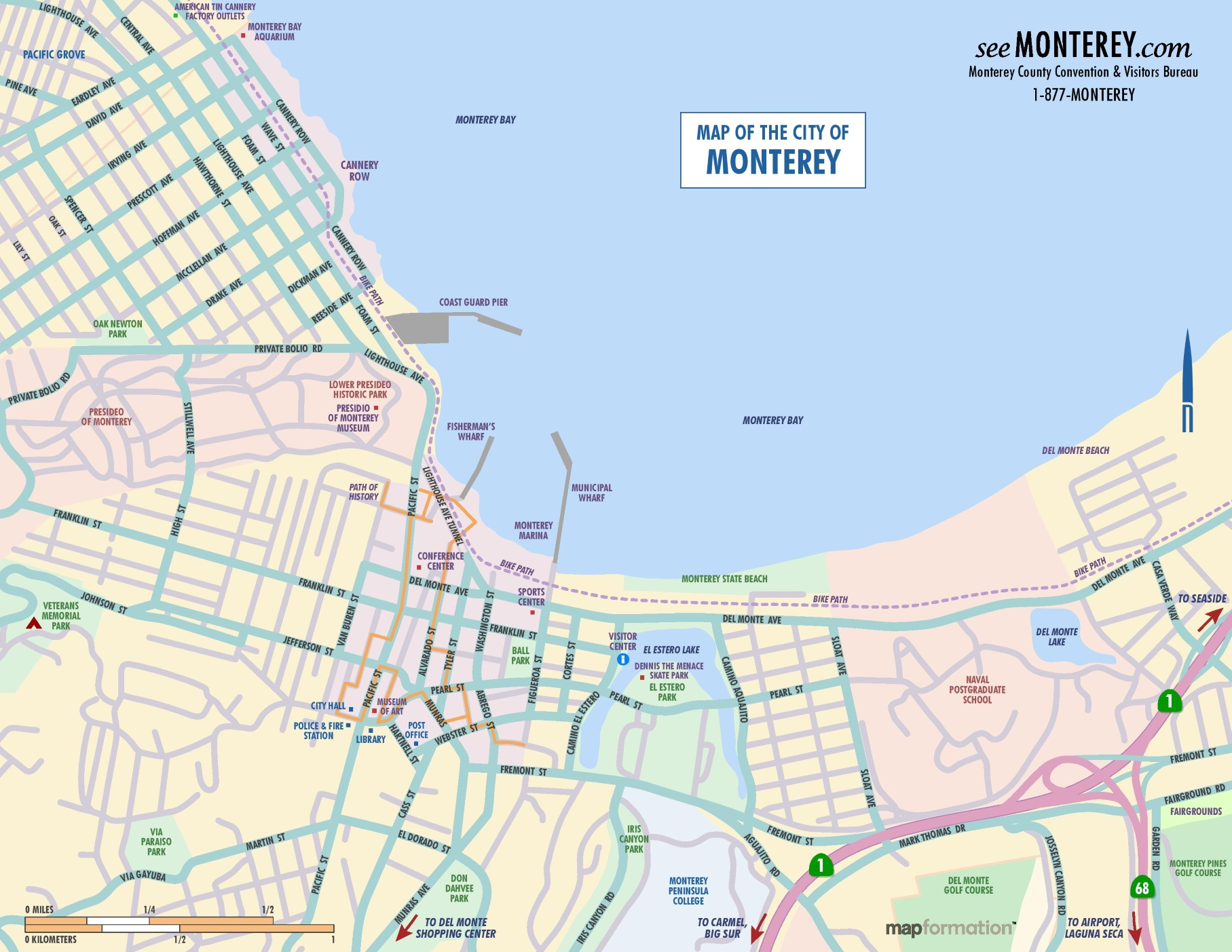 monterey map monterey area map monterey ca mappery monterey area