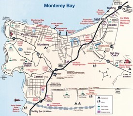 Monterey Maps California US Maps of Monterey