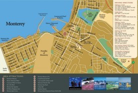 Monterey tourist attractions map