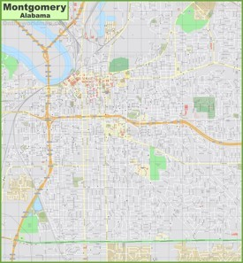 Large detailed map of Montgomery