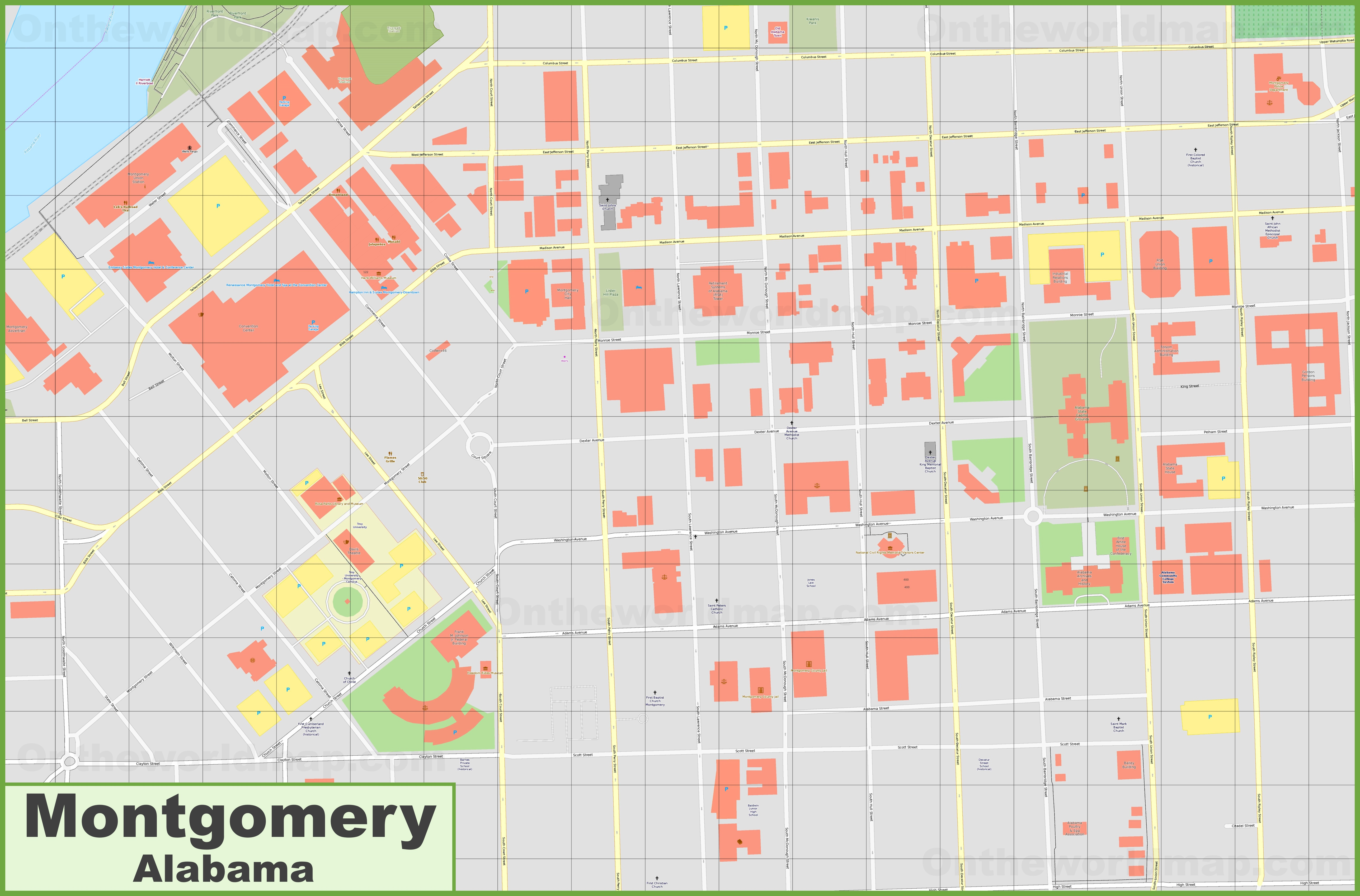 Montgomery downtown map