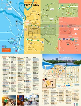 Montgomery hotels and sightseeings map