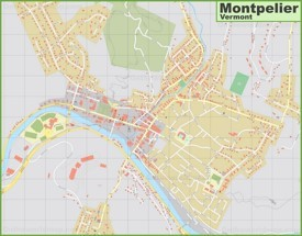 Large detailed map of Montpelier
