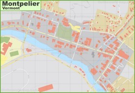 Montpelier downtown map