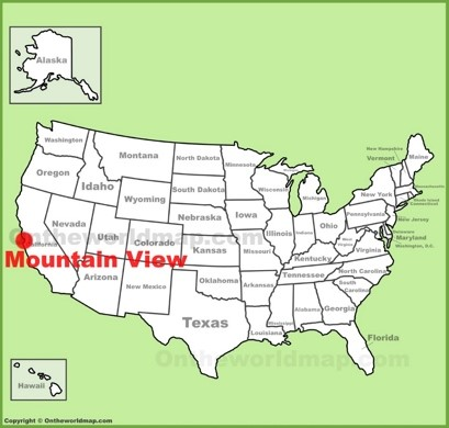 Mountain View Maps California US Maps of Mountain View