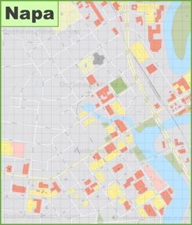 Napa downtown map