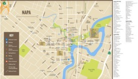Napa hotels and dining map